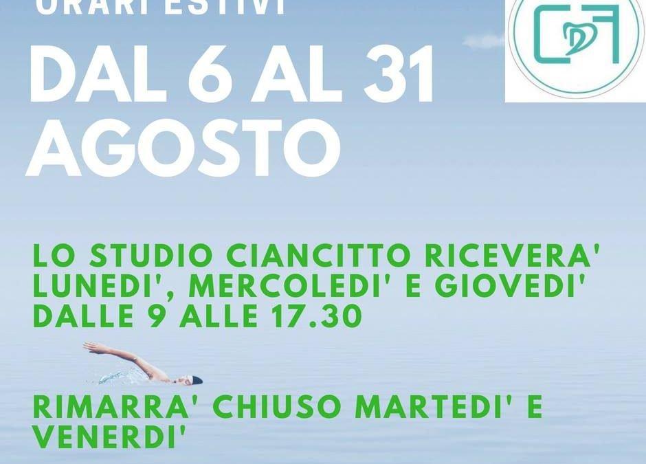 Francesco Ciancitto, il dentista aperto in città anche ad Agosto